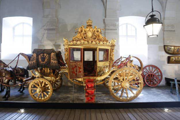 See some opulent carriages as the Coach Gallery at the Palace of Versailles reopens to the public