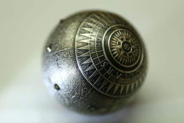 World's first spherical coin featuring the 7 wonders of the world on display in Warsaw