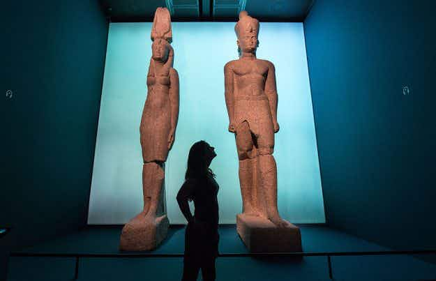Sneak peek at the artefacts recovered from Egypt's lost cities going on display this week at the British Museum