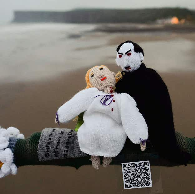 A Victorian pier in Yorkshire gets a cosy makeover with yarn creations