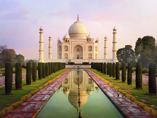 Insect droppings blamed for turning the walls of the Taj Mahal in India green