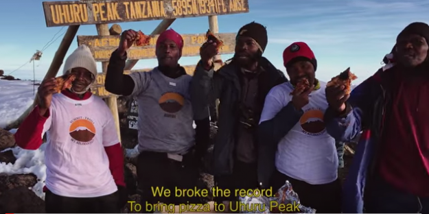 Pizza Hut breaks record for highest altitude delivery on Mount Kilimanjaro
