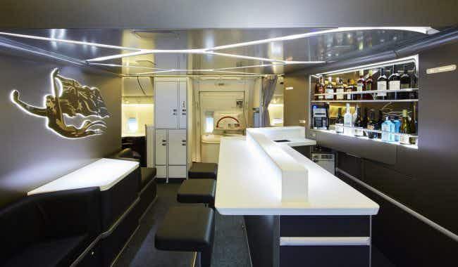 Bottoms up on the new onboard business class bar for Virgin Australia passengers