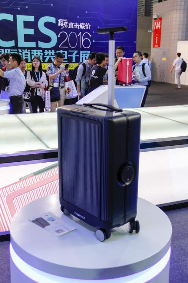 The suitcase of the future: a robotic case that follows its owner around