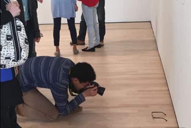 Pair of glasses left on San Francisco museum floor mistaken for art
