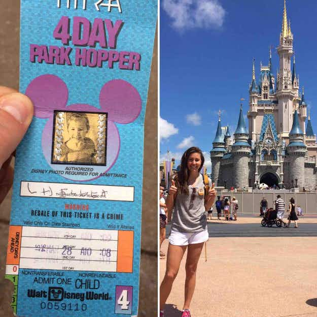 This woman discovered a 22-year-old unused  Disney ticket, and had the time of her life