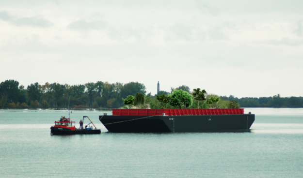 A floating food forest is to allow New Yorkers the chance to forage for plants