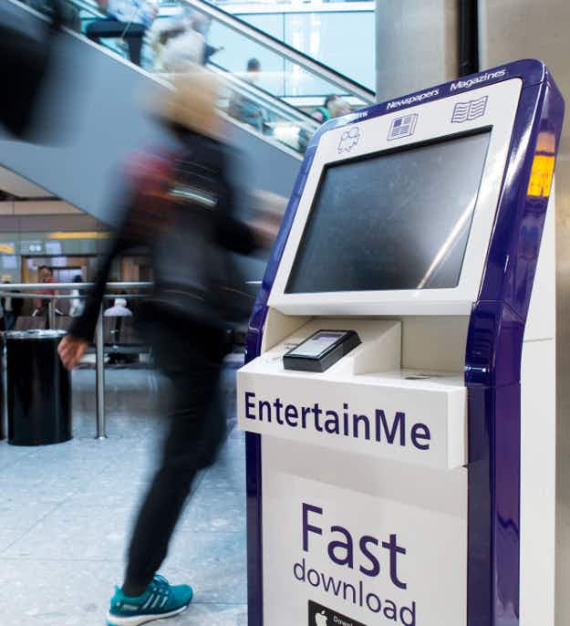 Kiosk at Heathrow Airport will allow passengers to download movies to watch on their phones in-flight