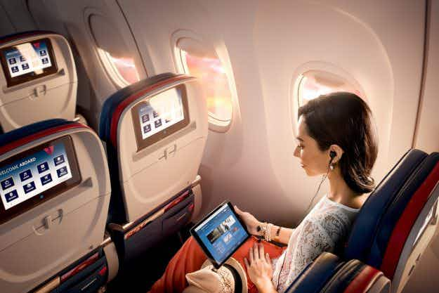 Delta Air Lines will offer all of its in-flight entertainment for free starting in July