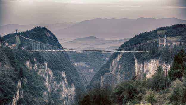 See the world's longest glass bridge set to open soon in China