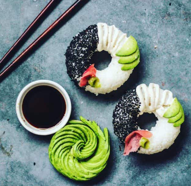 Forget the cronut - check out the new healthy sushi donut