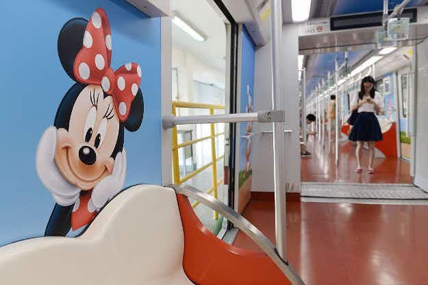 New Disney-themed metro trains in Shanghai set to debut with theme park's grand opening
