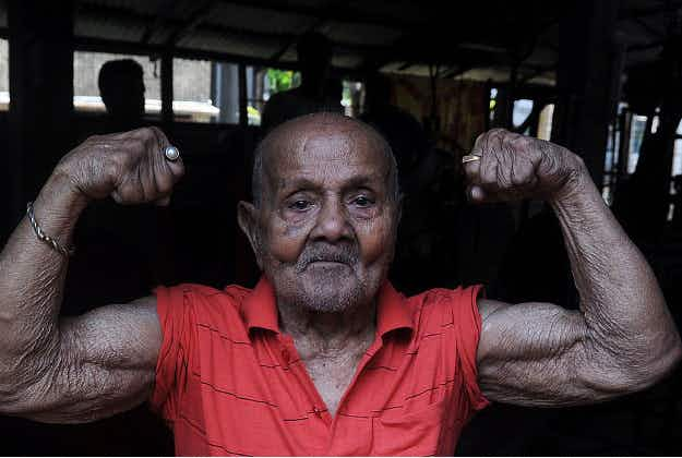 India says fond farewell to Pocket Hercules (104) the nation's best loved bodybuilder who did shows up to the age of 99