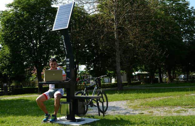 Croatian bike riders to get innovative 'recharge benches' on cycle route