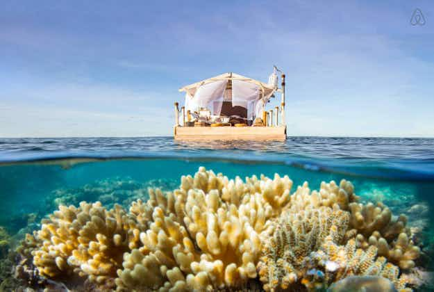 Lucky travellers will sleep above the Great Barrier Reef with a new Airbnb contest