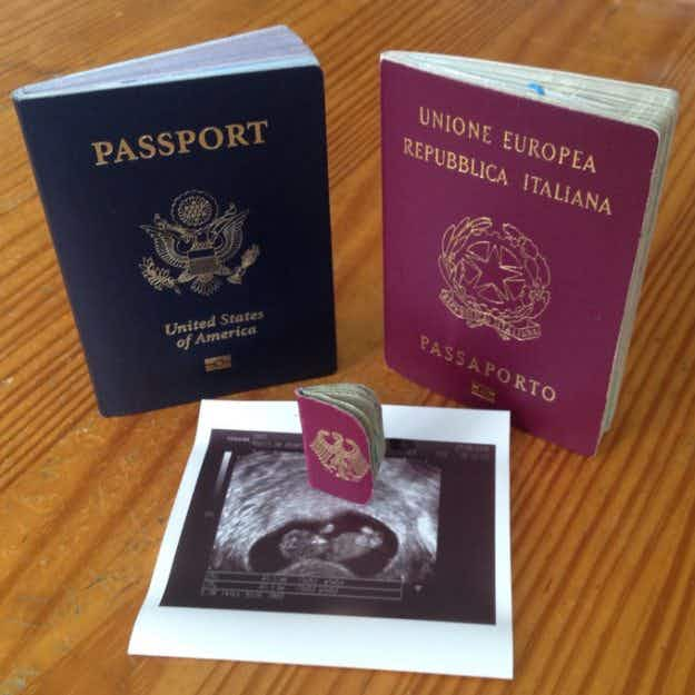 A man created a teeny tiny passport for his baby-to-be and it's adorable