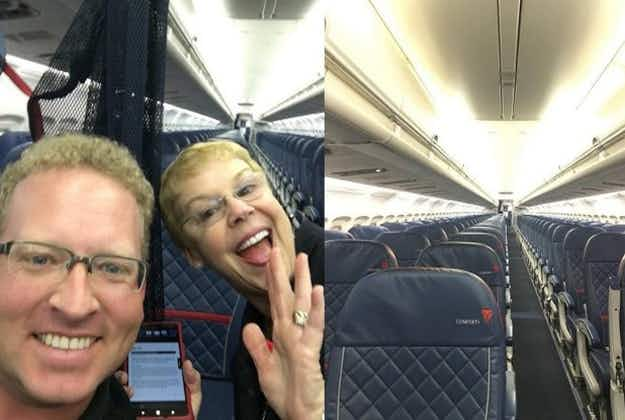 Man given royal treatment as solo passenger on Delta flight from New Orleans