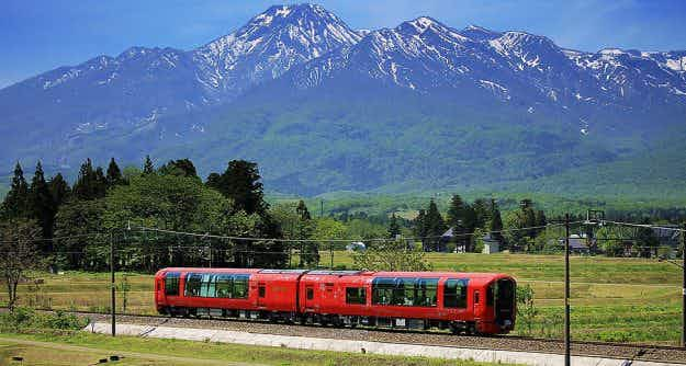 Japan's new tourist train has replaced most of the walls with windows for that perfect view