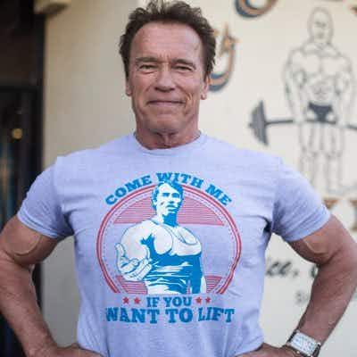 Hasta la vista Nelly! Watch as elephant charges at Arnold Schwarzenegger on safari in Africa