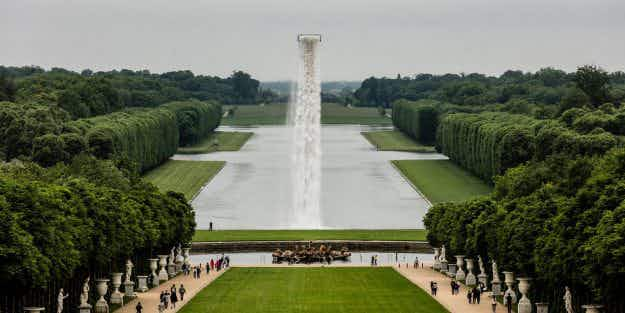 The Palace of Versailles is home to a magnificent floating waterfall this summer