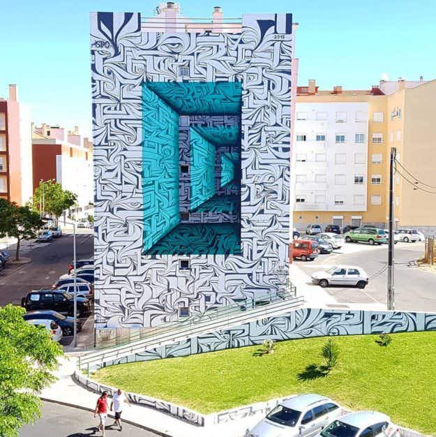 Tourists are flocking to see this mind-boggling optical illusion in Portugal