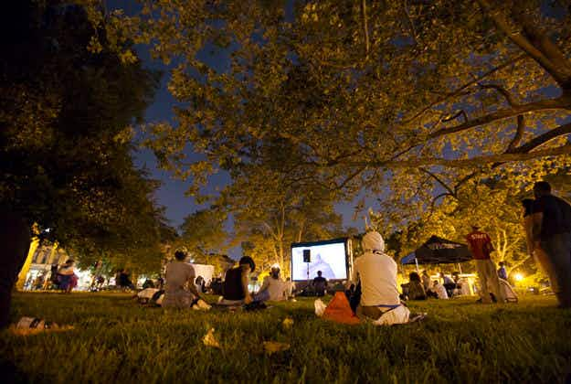 While away your summer evenings watching movies under the stars in New York