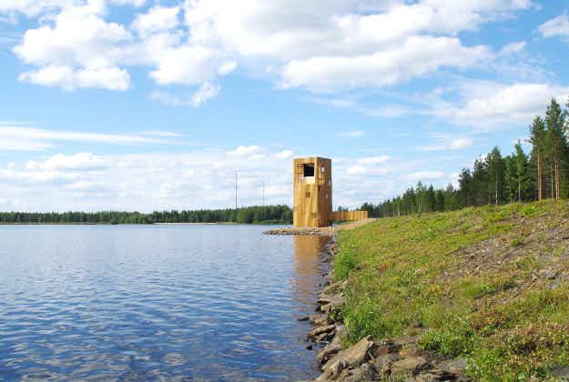 Lakeside observation platform 'Periscope Tower' opens in western Finland
