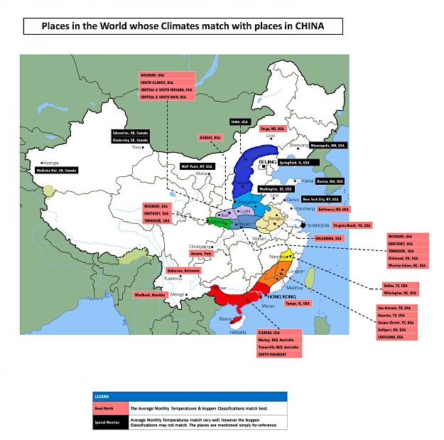 Colourful climate comparison maps show the surprising ...