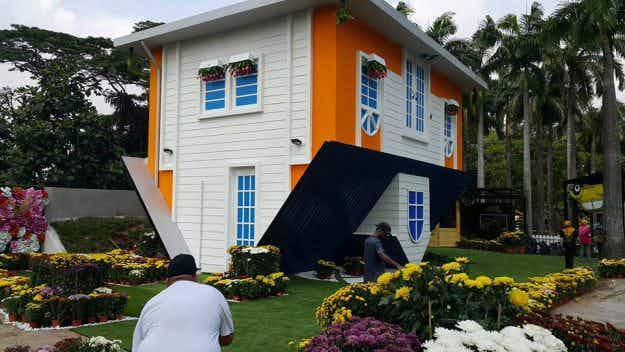 Come hang out in Malaysia's newest upside down house