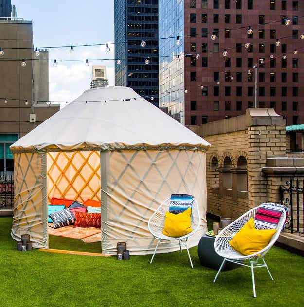 You can go glamping on this hotel rooftop in New York City – for $2000 a night