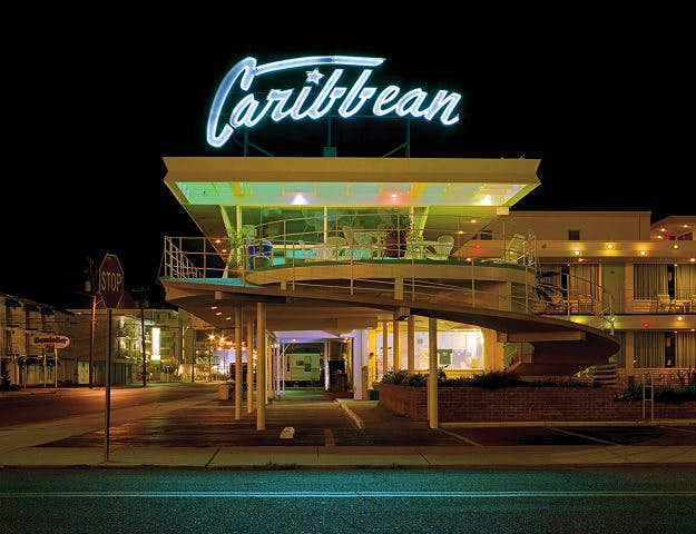 Space, travel, cars and rock 'n' roll influenced the motels' design.