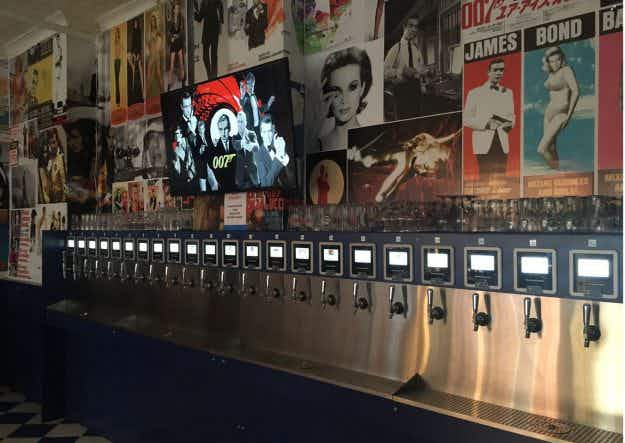 This bar in New York has no bartenders and you can serve yourself beer on tap