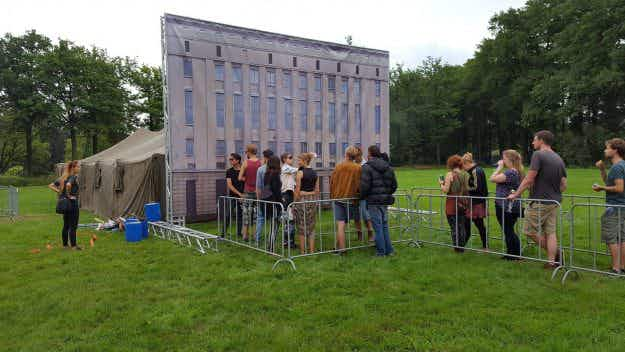 A festival recreated Berlin's famous Berghain nightclub... and no one could get in