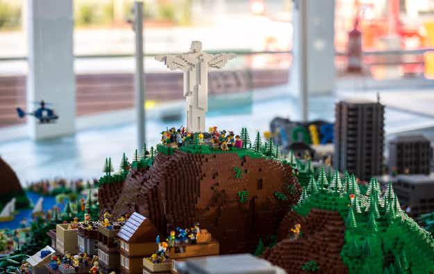 See a replica of Rio de Janeiro made of Lego displayed on the Olympic Boulevard