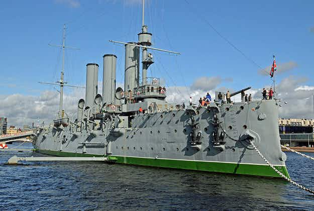 St Petersburg's historic Aurora cruiser is now open to visitors