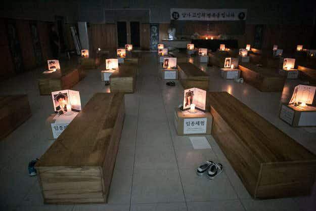 Inside South Korea's newest self-help craze; fake funerals