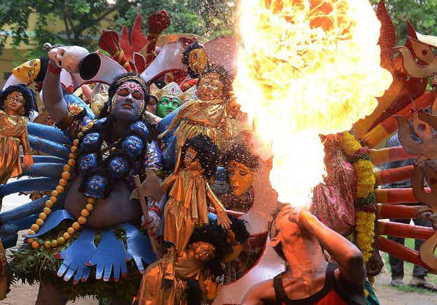 In photos: Hyderabad celebrates the Mother Goddess at the end of Bonalu festival