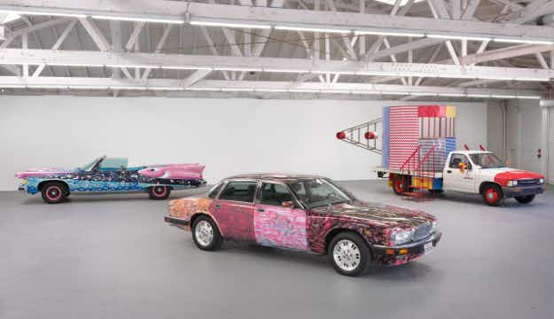 A new exhibition at a Los Angeles gallery will mix art and automobiles