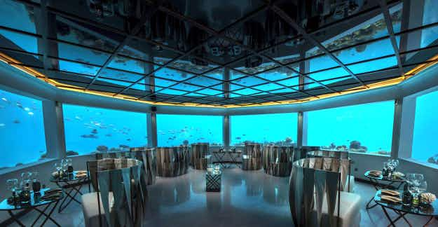 Check out the view at this new underwater restaurant in the Maldives