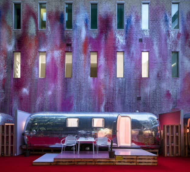 Fancy a night in a vintage airstream on top of a car park in Melbourne?