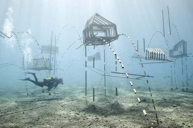 Dive in to explore this underwater artwork off the coast of Greece