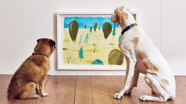 World's first contemporary art exhibition for dogs held in London