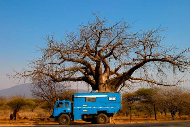 This couple spent a year and a half travelling Africa in a ten tonne ex-military truck