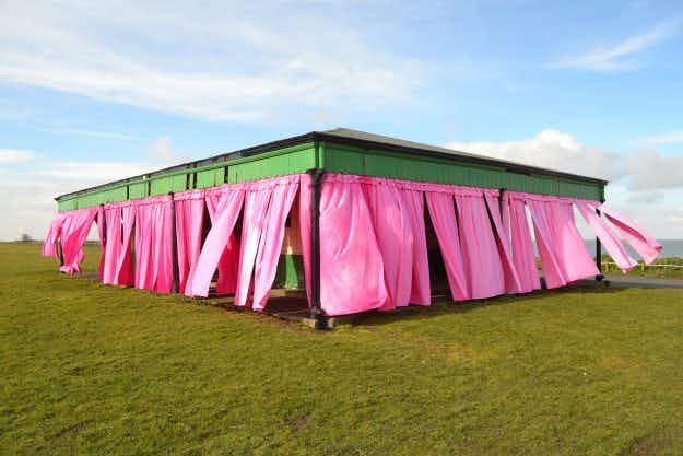 Historic seaside shelters will be transformed as part of an English coastal park celebration
