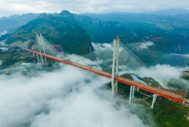 China's newest bridge climbs to one-third of a mile high making it world's highest