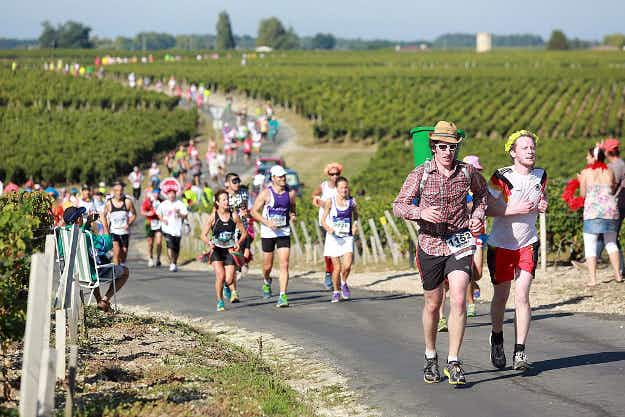 Combine wine, cheese and vigorous exercise at France's gourmet running event Marathon du Médoc
