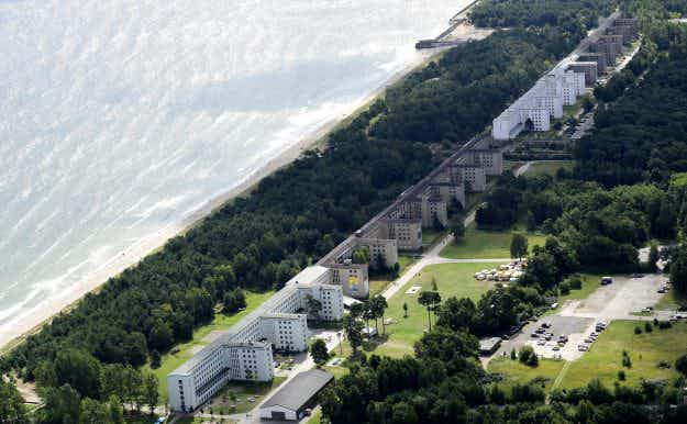 Ruins of a former Nazi beach resort being turned into luxury apartments