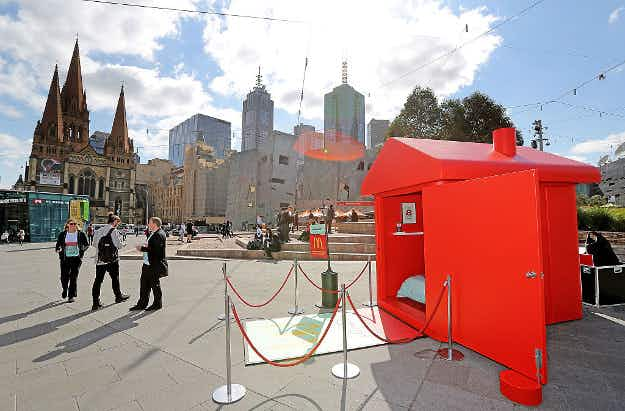 McDonalds creates a pop-up Monopoly Hotel in Melbourne