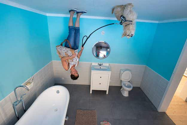 Road-trippers are taking incredible pictures in Germany's upside-down house