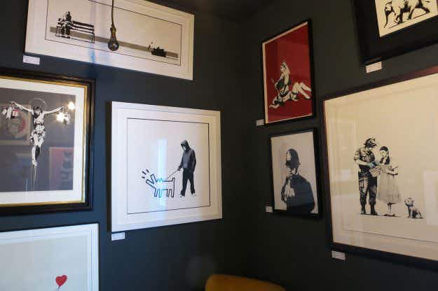 First ever permanent Banksy exhibition unveiled at London art studio